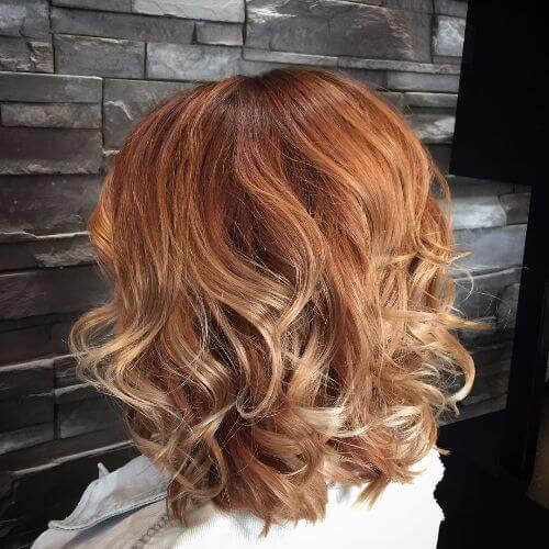 Romantic Strawberry Blonde Hairstyle