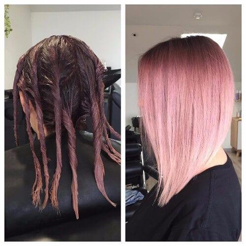 Rose Dirty Blonde Hair Color