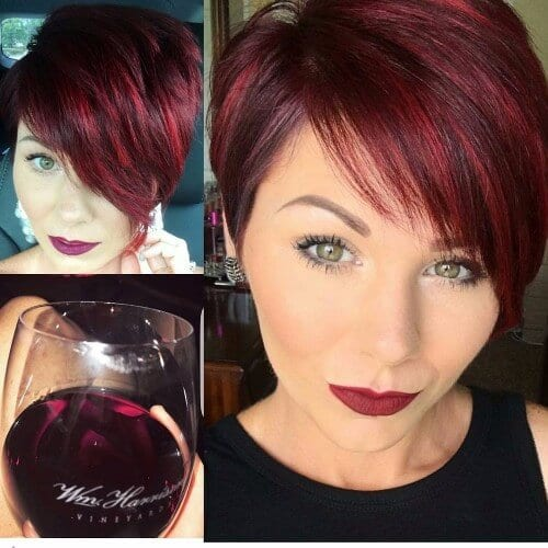 smooth red pixie cut