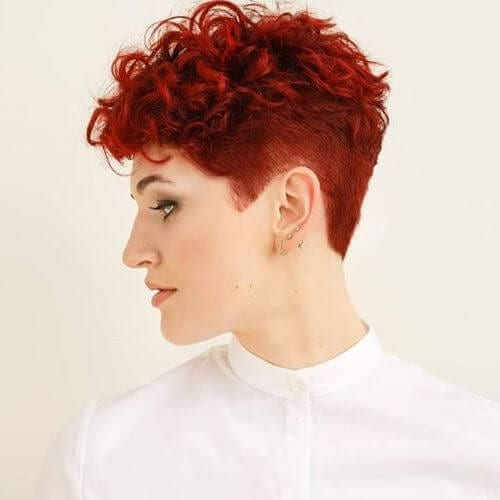 short curly pixie cut