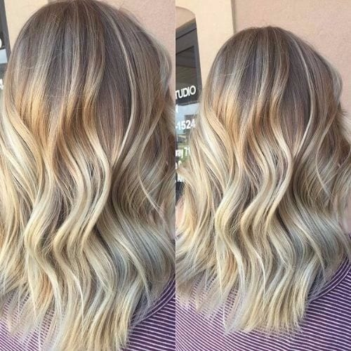 ash blonde hair balayage