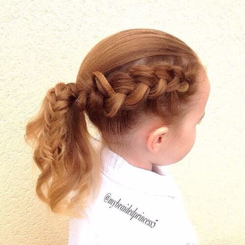 braided ponytail for little girls