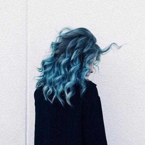 blue soft curls
