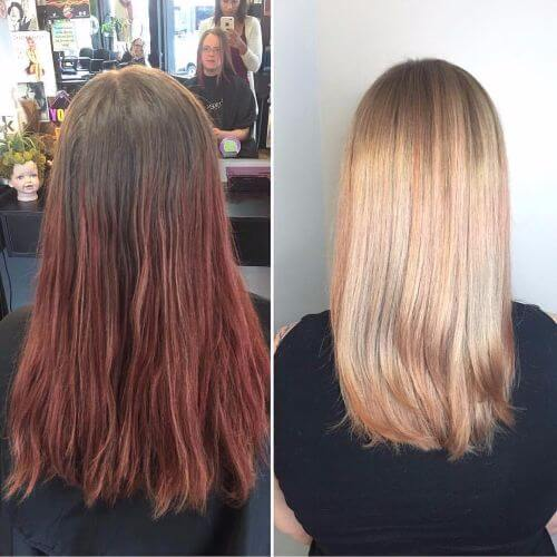 balayage strawberry blonde hair