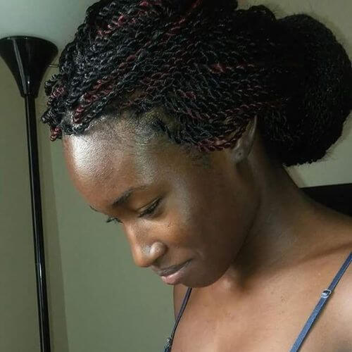 updo senegalese twists