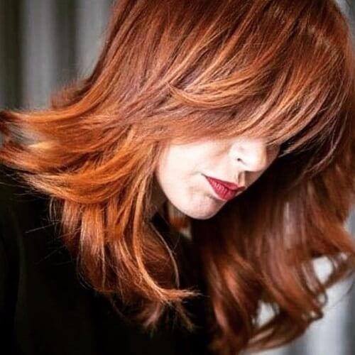 light red brown hair