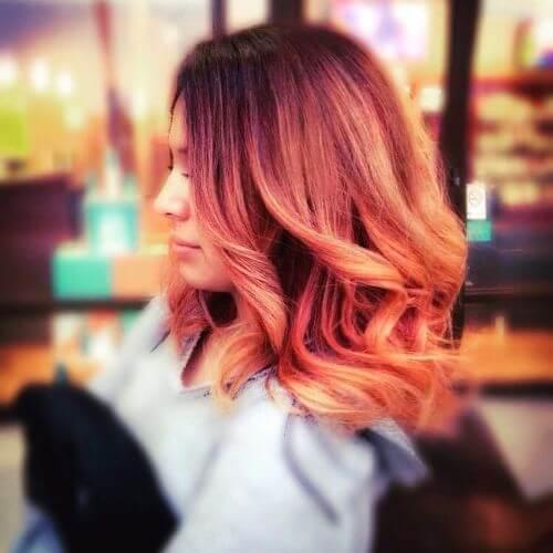 wavy strawberry blonde hair