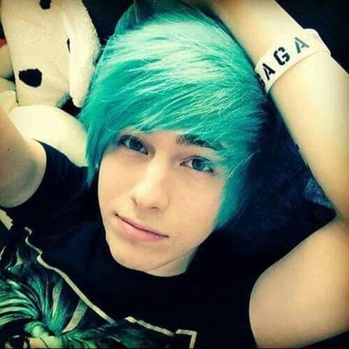 blue hair for guys
