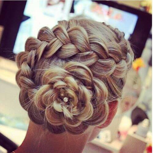 wedding hairstyles braided buns