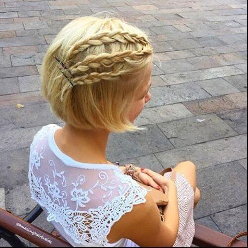 braided halfdo