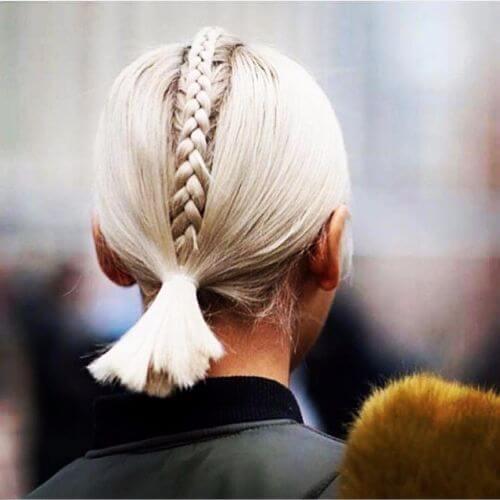 braided ponytail updos for short hair