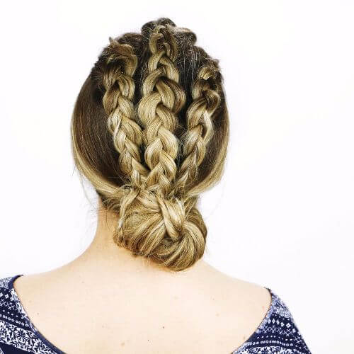 long hair braided updos
