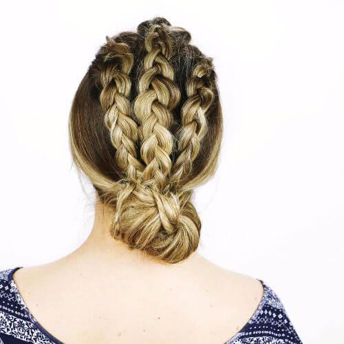 long hair braided updos