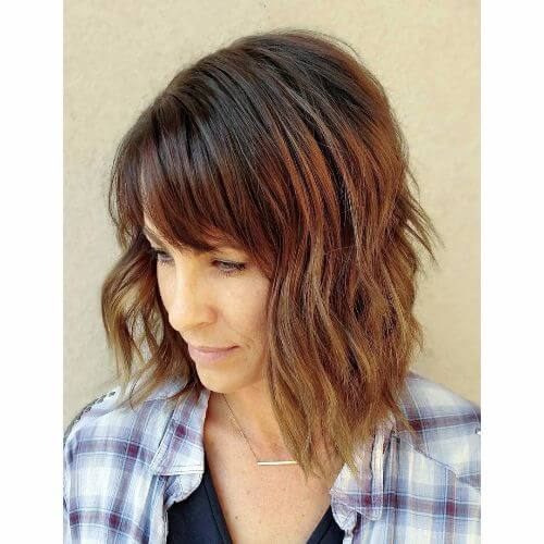 short hair with caramel hair colors