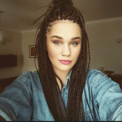 thin box braids