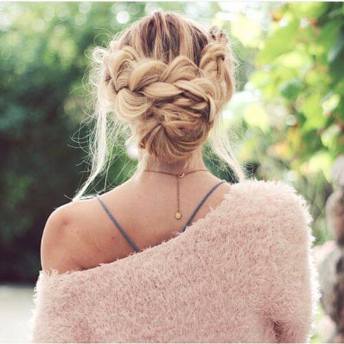 double crown updo