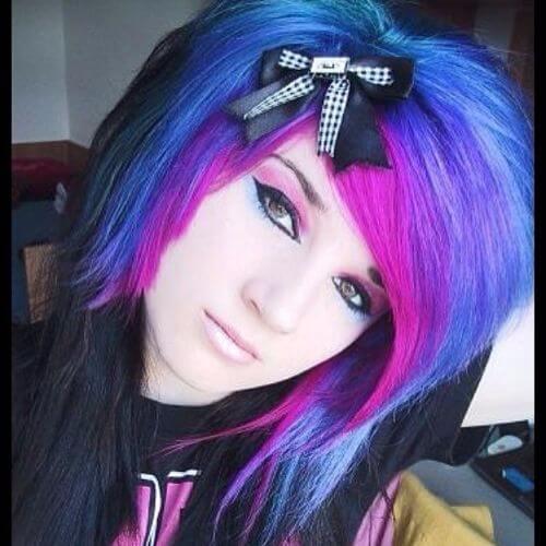 43 beautiful blue hair for emo girls