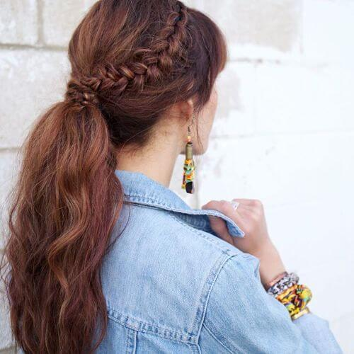 braided caramel hair