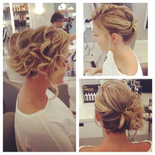 updos for short hair romantic curls