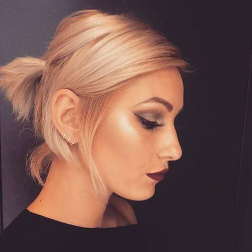 elegant ponytail for short hair