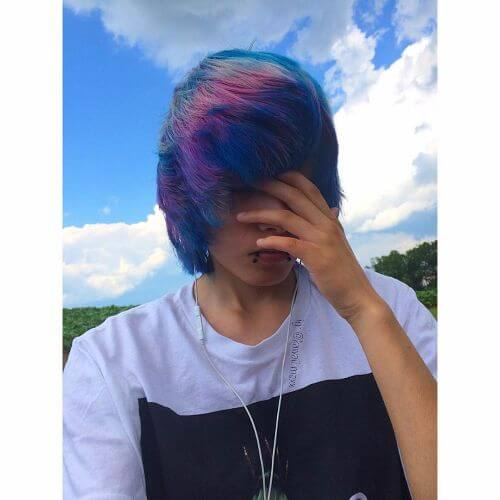 rainbow hair for guys