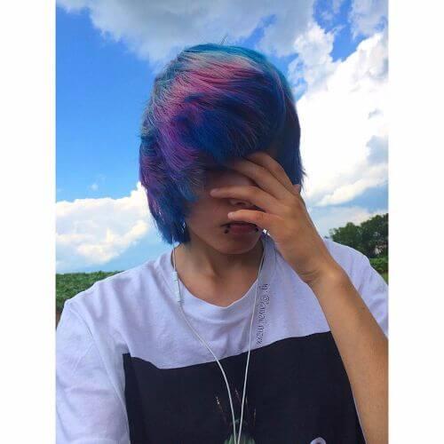 rainbow hair for guys