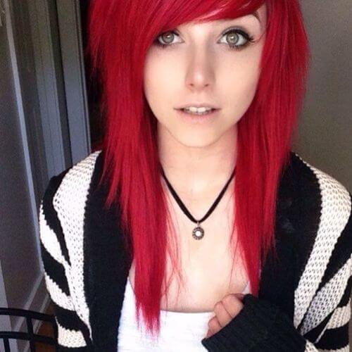 30 Impressive Long Emo Hairstyles For Girls