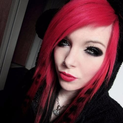 coontail hair emo hairstyles for girls