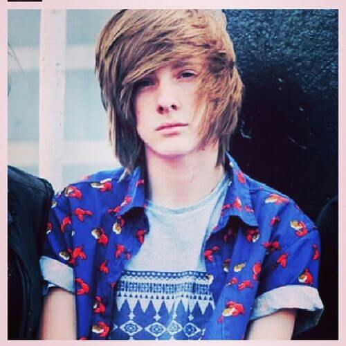 scene natural look emo hairstyles for guys