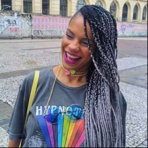 box braids ombre