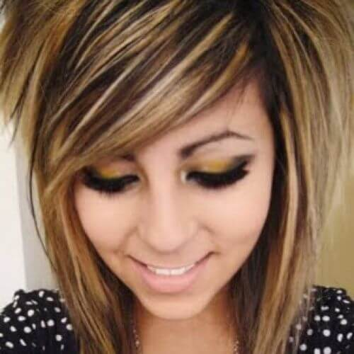 caramel highlights for scene hairstyle