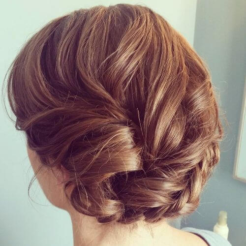 knotted curls updo