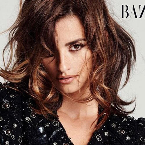 penelope cruz with caramel hair
