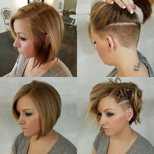 braided side bob haircut updos for short hair