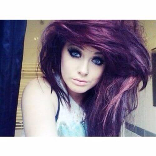 wavy emo hair