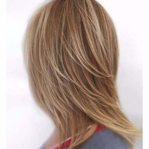 blonde highlights on light ash brown hair