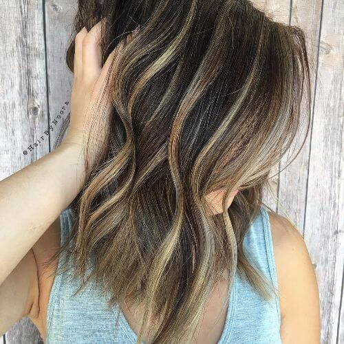 blonde lowlights and blonde highlights on brown hair