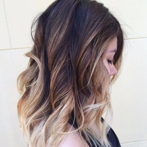 ash brown hair with caramel highlights