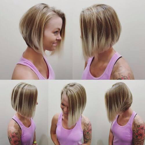 blonde balayage highlights on dark brown hair