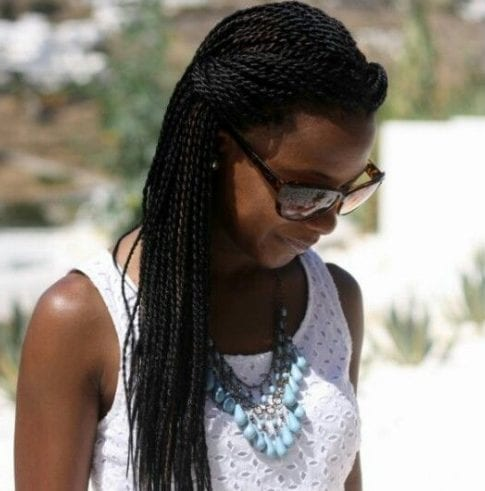 Small Senegalese Twists twist braids