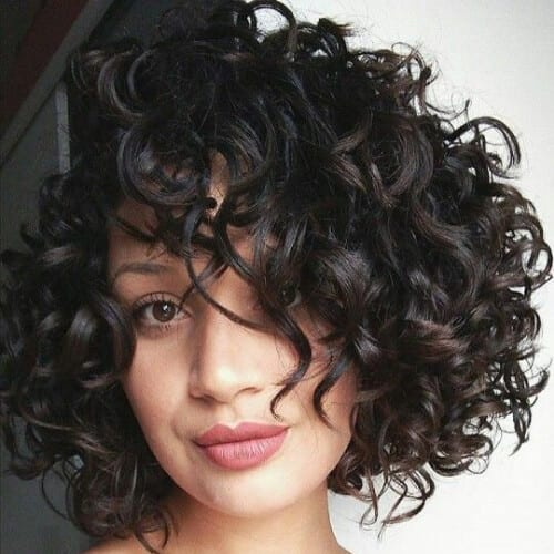 black short haircuts for curly hair