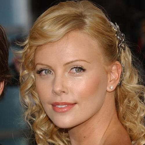 charlize theron short haircuts for curly hair