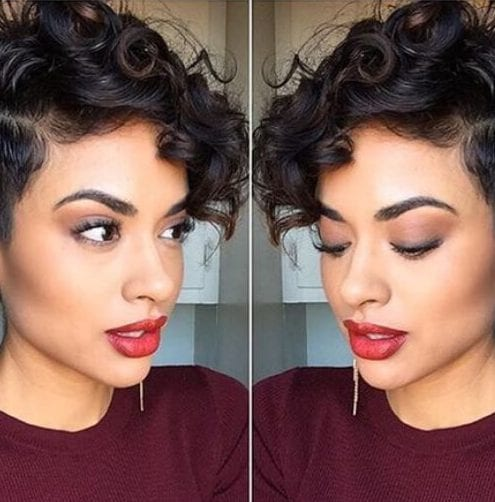 hairstyles for curly hair short pixie