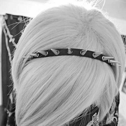 headband long emo hairstyles for girls