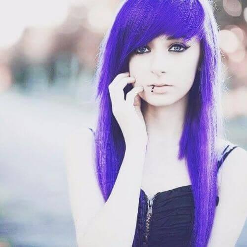 indigo long emo hairstyles for girls