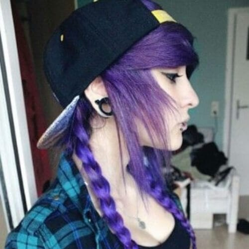 plaits long emo hairstyles for girls