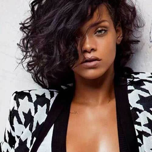 rihanna short haircuts for curly hair