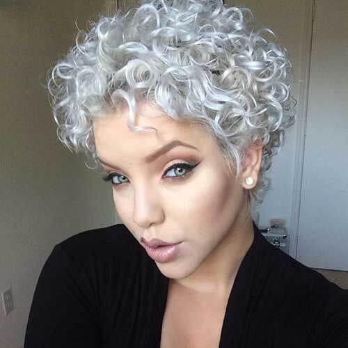 silver short haircuts for curly hair