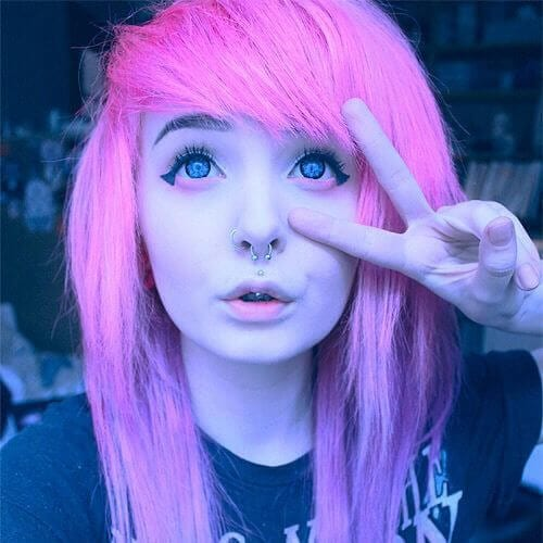 thin hair long emo hairstyles for girls