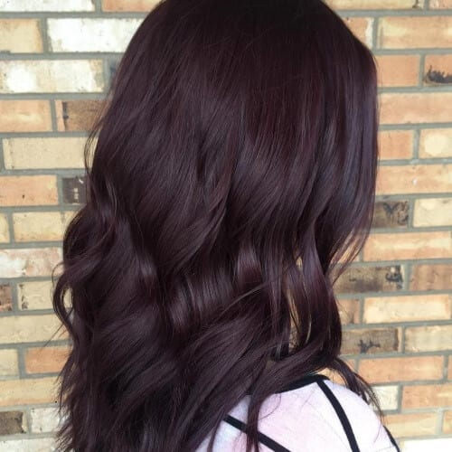 Very Dark Burgundy Red Brown Hair